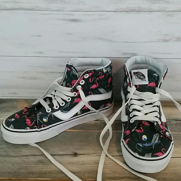 b3d35c2a8fd6 Vans Shoes - Van s Flamingos SK-8 Hi Reissue pool vibes